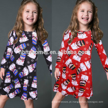 Roupas de família de manga longa Natal vestido roupas mesmos vestidos para mãe e filha