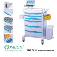 DW-FC003 Cheap Multifunctions hospital crash cart medical trolley