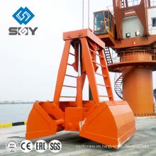 Agarrador hidráulico eléctrico de la cubierta de 14CBM teledirigido inalámbrico para el gancho agarrador de la cuerda de alambre teledirigido inalámbrico de la soja y de la arena