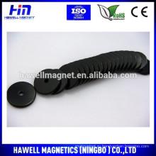 Черный эпоксидный кольцевой магнит, магнит диска с отверстием, марка n50, n52