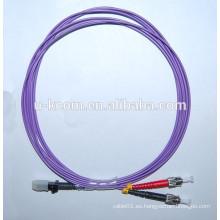 Purple MTRJ-ST Duplex OM4 Fibra Óptica Patch Cord