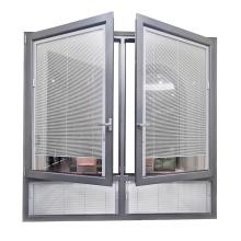 Thermal Break aluminum casement windows with built in blinds