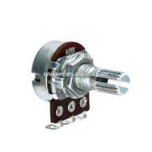 Potenciômetro rotativo de haste sifão curto de 16k4 com interruptor