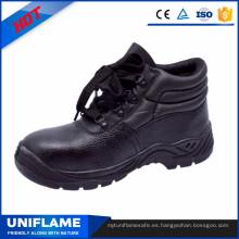 Zapatos de seguridad de cuero de la tapa del dedo del pie de acero para hombres