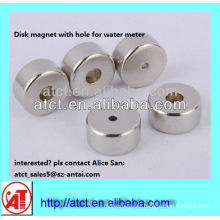 Neodymium disk magnet with hole for water meter