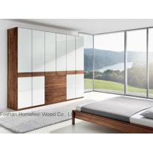 Cabinet d'armoires en laque unique en brillant blanc (HF-EY09042)