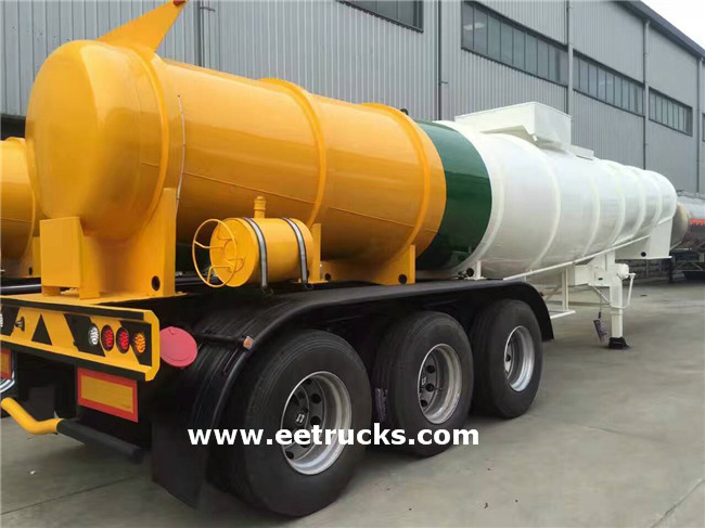 3 Axle 21000 Litres Sulfuric Acid Tanker Trailers