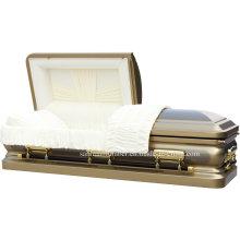 18ga unterschiedlche Bürste Stahl Sarg für Beerdigung