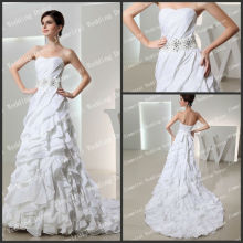 Unique Design Tiered A-line Whoselable Whosale High Quality Real Sample Wedding Dress