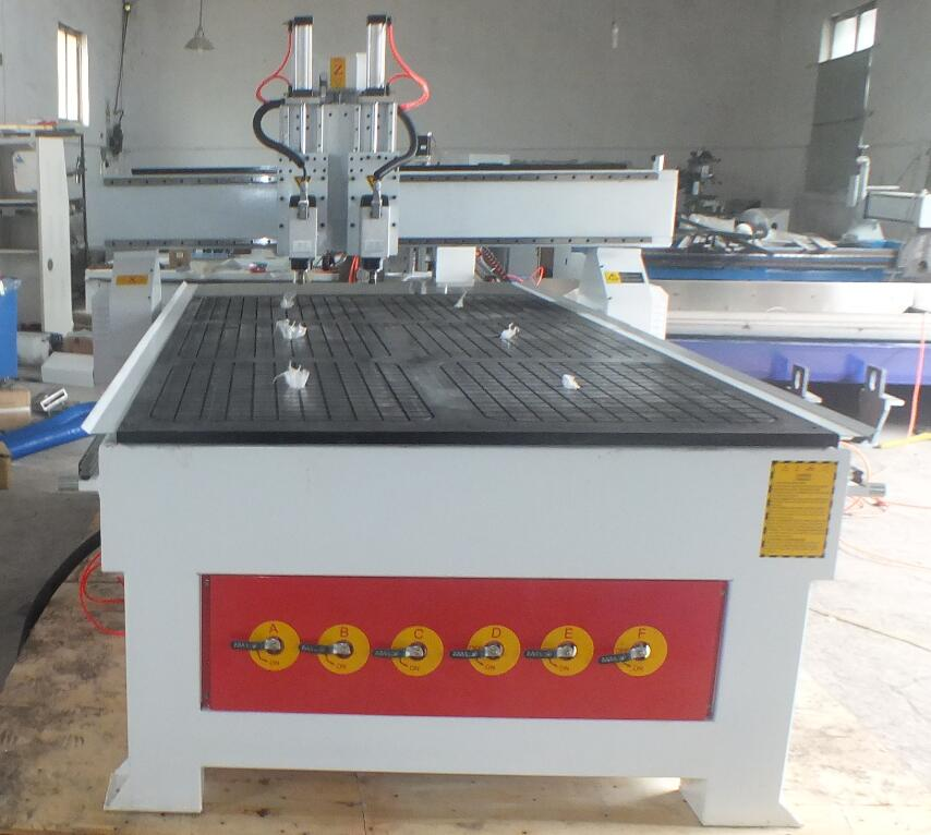 2 heads cnc router machine