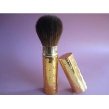 Escova retrátil de cabelo sintético e mão metálica