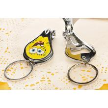 Cadeaux promotionnels Custom Design Nail Clipper Key Ring Bottle Opener
