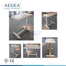 AG-OBT003 ABS plastic height adjustable patient room bedside table