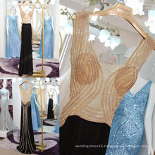 Sexy See Through Rhinestone Mermaid Evening Dresses 2016 Real Sample Vestido De Festa Longo Free Shipping High Quality ML191