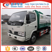 dongfeng 5m3 small self loading dumper garbage truck