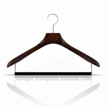 Wooden Durable Clothes Hanger with Pants Bar for Hotel Equipment