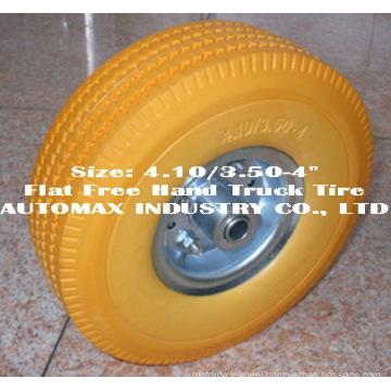 "4.10/3.50-4"" Flat Free Hand Truck Tire"