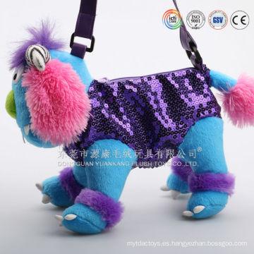 Fábrica de juguetes de regalo que hace la mochila felpa suave del gato del parque zoológico