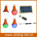 мульти цвет изменение 3W солнечные светодиодные лампы с пультом дистанционного управления
