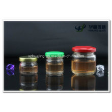 25 мл - 500 мл очистить круглых стеклянных банок хранения для мед джем конфеты