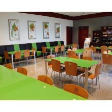 Ensemble de meubles de restaurant Ensemble et table à manger en verre (FOH-DT2)
