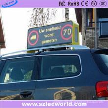 Fábrica exterior da tela de exposição do diodo emissor de luz da parte superior do táxi P5 do lado dobro