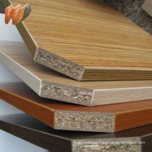 particle board with edge banding