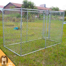 Galvanized Outdoor Chain Link Kennel Anjing Besar