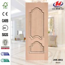 JHK-M02 décoratif décoratif Protude HDF Scallops en placage Beech Coût de la peau de porte