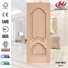 JHK-M02 decorativo em relevo Protude HDF vieiras folheado faia porta pele custo