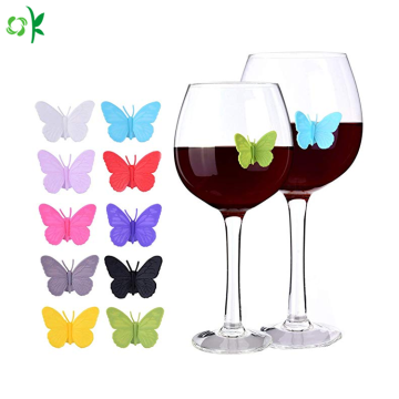 Food Grade Butterfly Silicone Glass Marker untuk Pesta