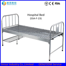 Hospital Cheap Stainless Steel Flat Medical Beds