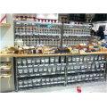 Multifuncional 4 Tornos Chrome Metal Wire Shop Display Prateleira