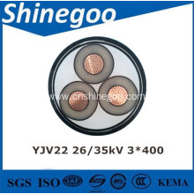 XLPE insulated PE sheathed power cable 3.6/6kV-26/35kV