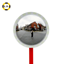 Outdoor and indoor convex glass mirror with reflective film edge