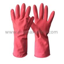 Rosa Haushalt Latex Handschuh mit Ce genehmigt