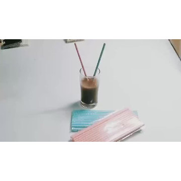 Custom Bulk Eco Food Grade  Biodegradable Paper Drinking Straw Paper Wrapped Paper Straws