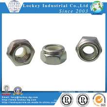 Stainless Steel A4-70 Hex Nylon Nut, Per ISO7040