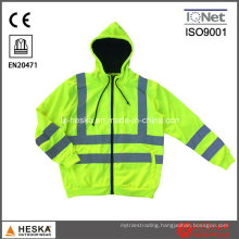 Cheap Green Knitted Safety Reflective Jacket