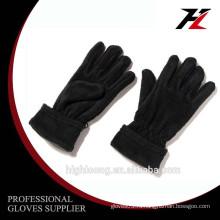 Зимние наружные черные перчатки с перчатками из флиса с эластичным на запястье