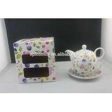 Чашка чашки горшка цветка нового прибытия популярная личной фарфора грациозно установленная для одного
