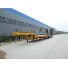 Transportador de semirremolque plano bajo 3 puentes