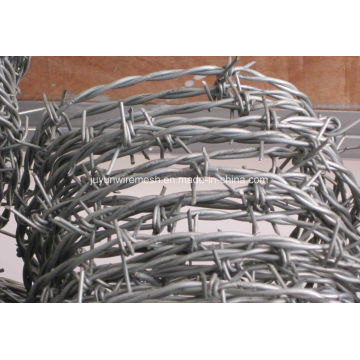 Bwg16 solo alambre de púas eléctrico Galvanzied (fábrica de Anping)