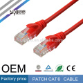 SIPU de alta velocidad opcional color 4 pares jumper lan utp cat6 patch cable