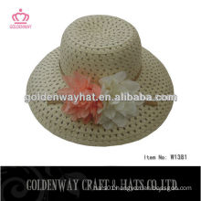 girls decorating foldable straw hats