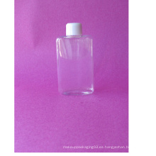 Botella de 100 ml para botellas de plástico plano con tapa roscada