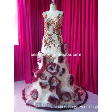 Реальный Образец Новой Моды Старинные Бисером Кружево Полные Рукава Мусульманских Свадебное Платье
