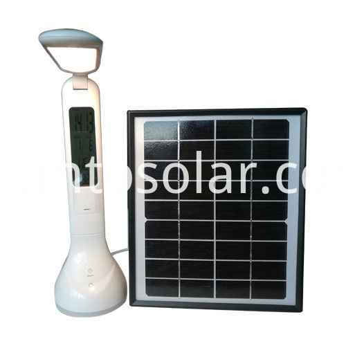 Folderable led solar desk lamp