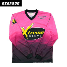 Custom 100% Polyester Sportswear Full Sublimation Printing Fishing Jersey