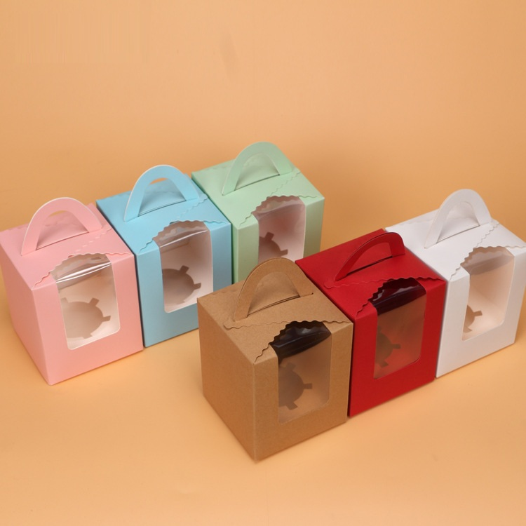 Single paper cupcake box wholesale